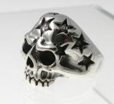 R296 Skull & Stars Ring