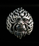R299 Silver angry man ring