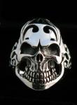 R300 Silver Skull Ring