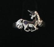 R35 Silver unicorn ring