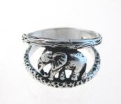R4 Silver elephant ring