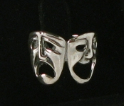 WR44 Silver comedy and tragedy ring