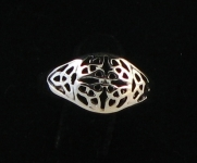 R57 Silver celtic ring