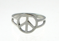 R173 Silver peace ring