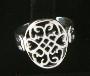 R69 Silver celtic ring