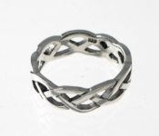 WR77 Silver Plait Ring