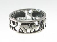 R8 Silver elephant ring
