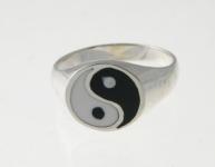R171 Silver Yin Yang Ring