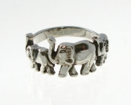 R5 Silver elephant family ring