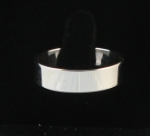 R95 Flat Silver Band Ring