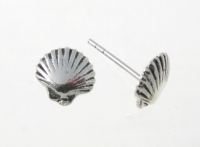 S108 Sterling Silver Seashell Studs