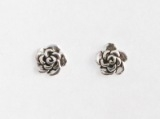 S13 Silver Rose Studs (pack of 5 pairs)