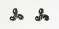S14 Silver triskele studs (pack of 5)