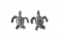 S143 Silver Turtle Studs (sold in packs of 5 pairs)