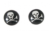 S156 skull and crossbone ( pack of 5 pairs)