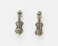 S21 Silver violin (pack of 5 pairs)