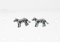 S25 Silver Dog Studs (sold in packs of 5 pairs)