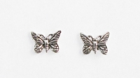 S40 Silver butterfly studs (pack of 5 pairs)