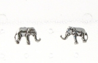 S56 Silver Elephant Studs (sold in packs of 5 pairs)