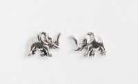 S8 Silver elephant studs ( pack of 5 pairs )