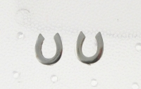 S61 Silver Horse Shoe Studs (sold in packs of 5)