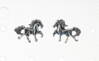 S68A Silver Horse Studs (sold in packs of 5 pairs)