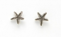 S69 Silver Starfish  (pack of 5 pairs)