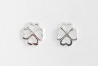 S71 Silver Clover Studs (pack of 5 pairs)