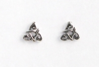 S72 Silver celtic triangle studs.(pack of 5 pairs)