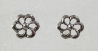 S73 Silver Flower studs (pack of 5 pairs)