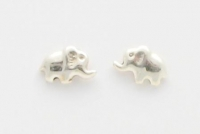 S91  Silver Elephant Studs 10mm x 5mm