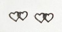 S9a Double Heart studs ( Pack of 5 Pairs)