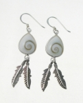 SHVE12 Shiva Shell Feather Earrings
