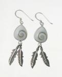 SHVE12 Shiva Shell Feather Earrings