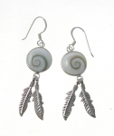 SHVE13 Shiva Shell Feather Earrings