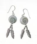 SHVE13 Shiva Shell Feather Earrings