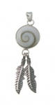 SHVP15 Shiva Shell Feather Pendant.