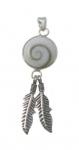 SHVP15 Shiva Shell Feather Pendant.