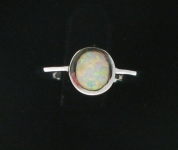 WFOR7 White Fire Opal Ring
