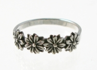WR1 Silver Flower Ring