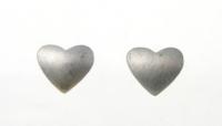 WS167 Satin Heart Studs