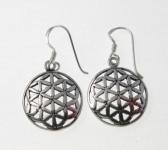 E71 flower of life earrings