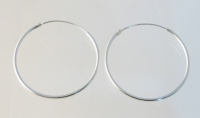 H65 Sterling Silver Plain Hoops.