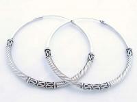 H1 Silver bali hoops 50x50