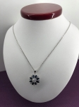 Diamond and Sapphire flower necklace