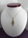 Oval Peridot Necklace