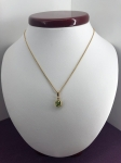 Round Peridot Necklace