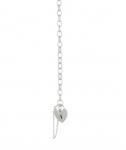 Silver Belcher Oval Charm Bracelet