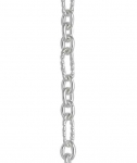 Silver Figaro Trace Long Link Twisted Wire