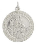 Silver Large Circular St Christopher